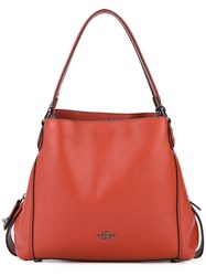 Coach Edie 31 Shoulder Bag Women Leather One Size Red