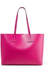 Tom Ford T Medium Textured Leather Tote Bright Pink Gbp