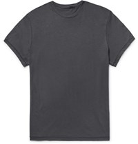 Haider Ackermann Ackerann Cotton Jersey T Shirt Charcoal