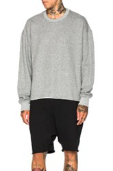 Fear Of God Long Sleeve Crewneck Sweatshirt In Gray