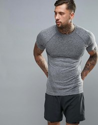 New Look Sport Seamless T Shirt In Grey Grey