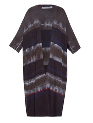 Raquel Allegra Tie Dye Wool And Cashmere Blend Cardigan