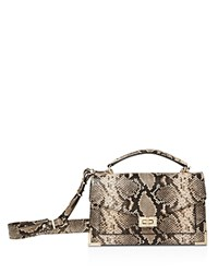 The Kooples Emily Snake Embossed Leather Medium Crossbody Taupe