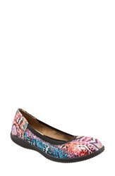 Softwalkr Women's Softwalk 'Hampshire' Dot Perforated Ballet Flat Multi Leather