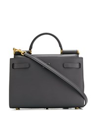 Dolce And Gabbana Small Sicily Tote Bag Grey
