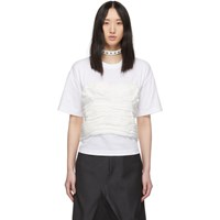 Junya Watanabe White Gathered Corset T Shirt