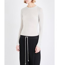 Rick Owens Raw Cut Long Sleeved Jersey Top Dinge