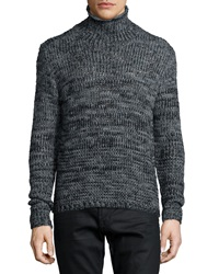 John Varvatos Mixed Yarn Turtleneck Sweater Gray