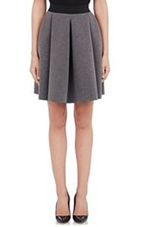Barneys New York Scuba Knit Pleated Skirt Grey