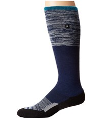 Richer Poorer Statik Outdoor Snow Sock Black Navy Men's Crew Cut Socks Shoes