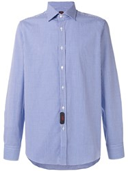 Massimo Piombo Mp Checked Shirt Blue