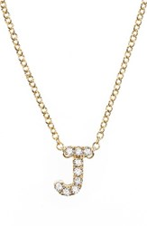 Bony Levy Women's Pave Diamond Initial Pendant Necklace Nordstrom Exclusive Yellow Gold J