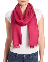 Lord And Taylor Oversize Wool Cashmere Wrap Scarf Sangria