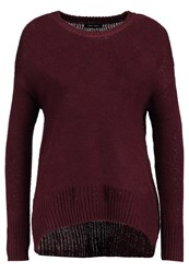 New Look Longline Jumper Berry