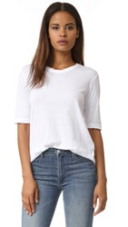 Wilt Classic Fitted Elbow Sleeve Tee White