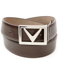 Callaway Modern Chevron Belt Brown