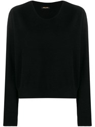 Max And Moi Round Neck Jumper Black