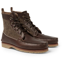 Quoddy Tweed Panelled Leather Chukka Boots