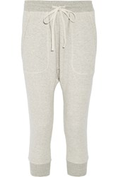 Nlst Cotton Blend Terry Track Pants Gray