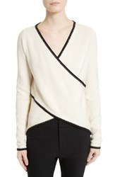 Derek Lam Women's 10 Crosby Cotton And Cashmere Cross Front Sweater