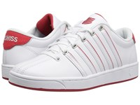 K Swiss Court Pro Ii Sp Cmf White Red Women's Lace Up Casual Shoes