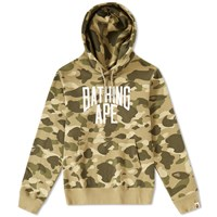 A Bathing Ape Colour Camo Nyc Logo Pullover Hoody Brown