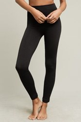Anthropologie Fleece Lined Cabeled Leggings Black