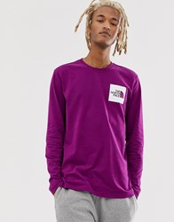 The North Face Fine Long Sleeve T Shrit In Purple
