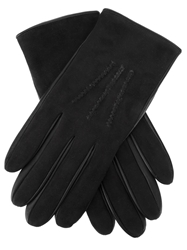 Melinda Gloss Shearling Gloves Black