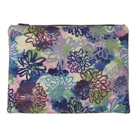 Rosa And Clara Designs Flora Velvet Leather Pouch Gold