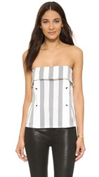 Shades Of Grey Strapless Envelope Top Sailor Stripe