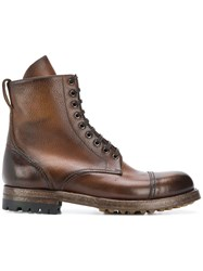 Silvano Sassetti Aged Effect Boots Brown