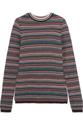 Mih Jeans M.I.H Moonie Striped Merino Wool Sweater Blue