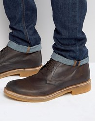 Base London Rufus Leather Chukka Boots Brown