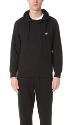 Emporio Armani French Terry Hoodie Black
