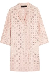 Roland Mouret Paddington Broderie Anglaise Cotton Blend Coat Blush