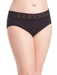 Hanky Panky Plus Size Cotton French Brief Black Chai