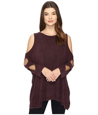 Culture Phit Lynda Cut Out Top Burgundy Women's Clothing