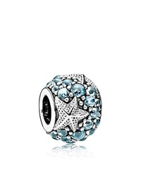 Pandora Design Pandora Charm Sterling Silver And Cubic Zirconia Oceanic Starfish Blue