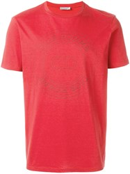 Christian Dior Homme Logo Print T Shirt Red
