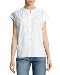 Mih Jeans Push Button Front Shirt White