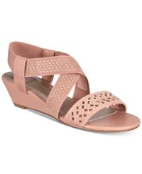 Impo Gritha Stretch Wedge Sandals Women's Shoes Clay Rose