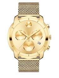 Movado Bold Yellow Gold Ion Plated Stainless Steel Chronograph Bracelet Watch