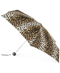 Totes Titan Holiday Gift Mini Umbrella Leopard