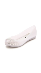 Melissa Ultragirl Wedding J. Maskrey Crystal Flats Grey