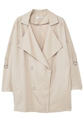 Mango Guardapo Trenchcoat Light Pastel Grey Beige