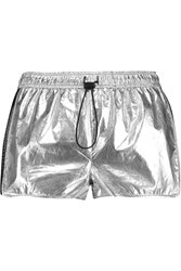 Rebecca Minkoff Lexie Metallic Coated Cotton Shorts