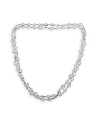 Cristabelle Crystal Chain Necklace Silver