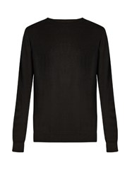 Raey Crew Neck Fine Knit Cashmere Sweater Black