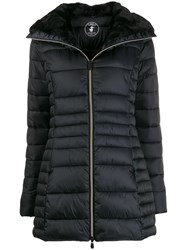 Save The Duck Faux Fur Lined Padded Jacket Black